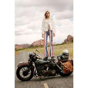 Free People Penny Stars & Stripes Flare Jeans NWT